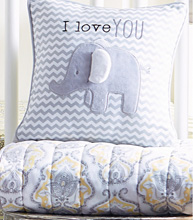 Wendy Bellissimo™ Mix & Match Elephant Chevron Throw Pillow - I Love You