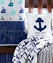 Wendy Bellissimo™ Mix & Match Anchor Chevron Throw Pillow - Little Sailor