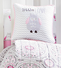 Wendy Bellissimo™ Mix & Match Owl Chevron Throw Pillow - Little Love