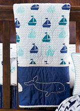Wendy Bellissimo Nursery Separates Whale and Boat Quilt