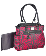 ABS by Allen Schwartz Cheetah Print  Diaper Bag Pink
