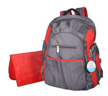 Fisher Price Ripstop Backpack Grey/Red