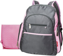 Fisher Price Ripstop Backpack Grey/Pink