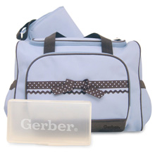 A.D.Sutton Gerber Ribbon Diaper Bag-Blue