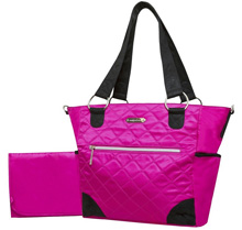 Wendy Bellissimo Quilted Tote Diaper Bag – Fuschia