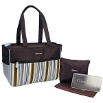 Baby Essentials Tote Diaper Bag Stripe Blue