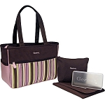 Baby Essentials Tote Diaper Bag Stripe Pink