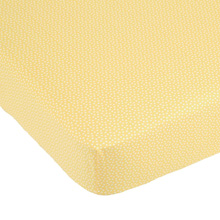 Balboa Baby Yellow Tulip Crib Sheet, Yellow & White Dot