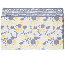 Balboa Baby Yellow Tulip Cotton Sateen Coverlet
