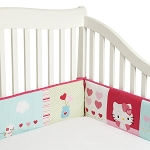 Bedtime Originals Hello Kitty & Puppy Bumper