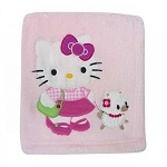 Bedtime Original Hello Kitty n Puppy Blanket