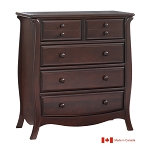 Natart Bella 5 Drawer Dresser in Cocoa