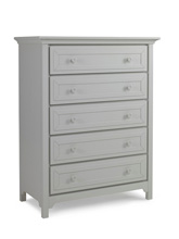 Ti Amo 4000 Series 5 Drawer Dresser, Misty Grey
