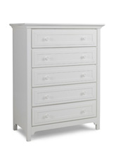Ti Amo Catania/Carino 5 Drawer Dresser, Snow White
