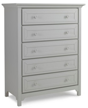 Ti Amo Catania/Carino 5 Drawer Dresser, Misty Grey