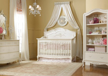 Dolce Babi Angelina Full Panel Convertible Crib in French Vanilla