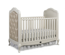 Dolce Babi Angelina Upholstered Traditional Crib, French Vanilla