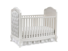 Dolce Babi Angelina Upholstered Traditional Crib, Pearl