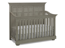 Dolce Babi Serena Full Panel Convertible Crib, Saddle Grey