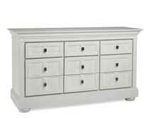 Dolce Babi Serena 9 Drawer Dresser, Sea Shell White