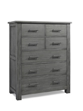 Docle Babi Lucca 7 Drawer Dresser, Weathered Grey