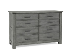 Docle Babi Lucca 8 Drawer Dresser, Weathered Grey