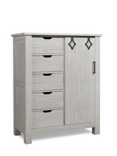 Dolce Babi Lucca Chifforobe, Sea Shell White