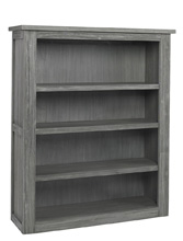 Docle Babi Lucca Hutch/Bookcase, Weathered Grey