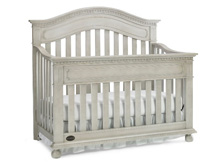 Naples Convertible Crib in Grey Satin