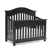 Dolce Babi Naples Convertible Crib in Vintage Onyx