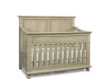 Dolce Babi Naples Full Panel Convertible Crib, Driftwood