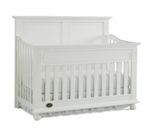 Dolce Babi Naples Full Panel Convertible Crib, Snow White