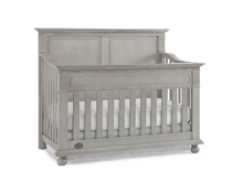 Dolce Babi Naples Full Panel Convertible Crib in Grey Satin