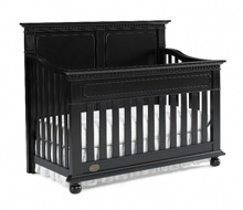Dolce Babi Naples Full Panel Convertible Crib in Vintage Onyx
