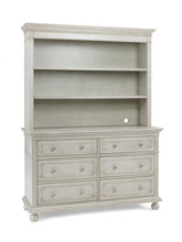 Dolce Babi Naples Hutch, Grey Satin