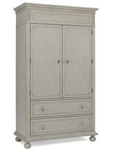 Dolce Babi Naples Armoire, Grey Satin