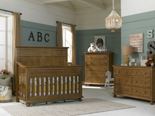 Dolce Babi Naples 3 Piece Nursery Set, Harvest Brown