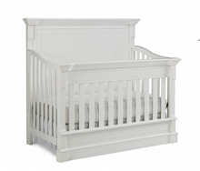 Dolce Babi Roma Full Panel Convertible Crib in Snow White