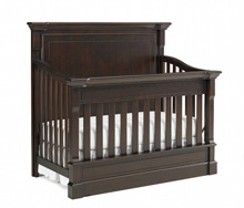 Dolce Babi Roma Full Panel Convertible Crib in Espresso