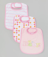 Frederic Lou Baby Burp Cloth 3-Pack Pink