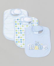Frederic Lou Baby Bib 3-Pack Blue