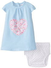 Rene Rofe Floral and Chambray Dress with Diaper Cover