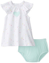Rene Rofe Hearts Dress with Diaper Cover
