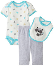 Rene Rofe Raccoon 3 Piece Pant Set with Bodysuit and Bib