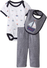 Rene Rofe Nautical 3 Piece Pant Set with Bodysuit and Bib