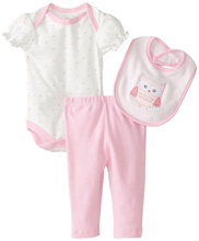 Rene Rofe Owl 3 Piece Pant Set with Bodysuit and Bib