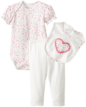Rene Rofe Sweetheart 3 Piece Pant Set with Bodysuit