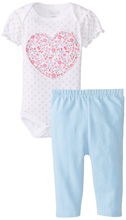Rene Rofe Floral and Chambray Pant Set with Bodysuit