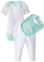 Rene Rofe Hearts 3 Piece Pant Set with Bodysuit & Bib