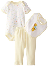 Rene Rofe Newborn Giraffe 3 Piece Pant Set with Bodysuit